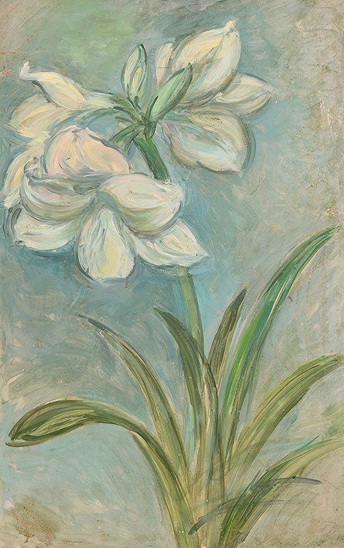 Stella Steyn, White Amaryllis at Morgan O'Driscoll Art Auctions