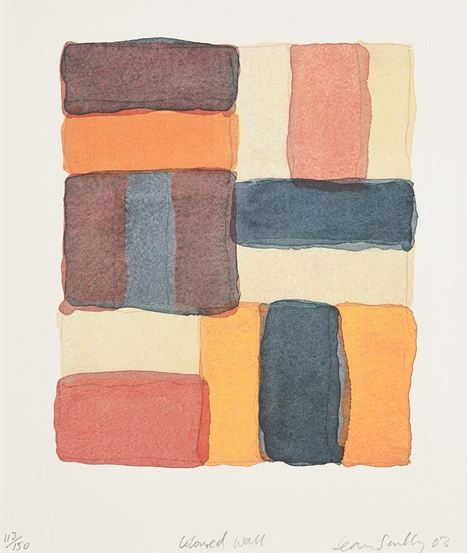 Sean Scully, Coloured Wall (2003) at Morgan O'Driscoll Art Auctions