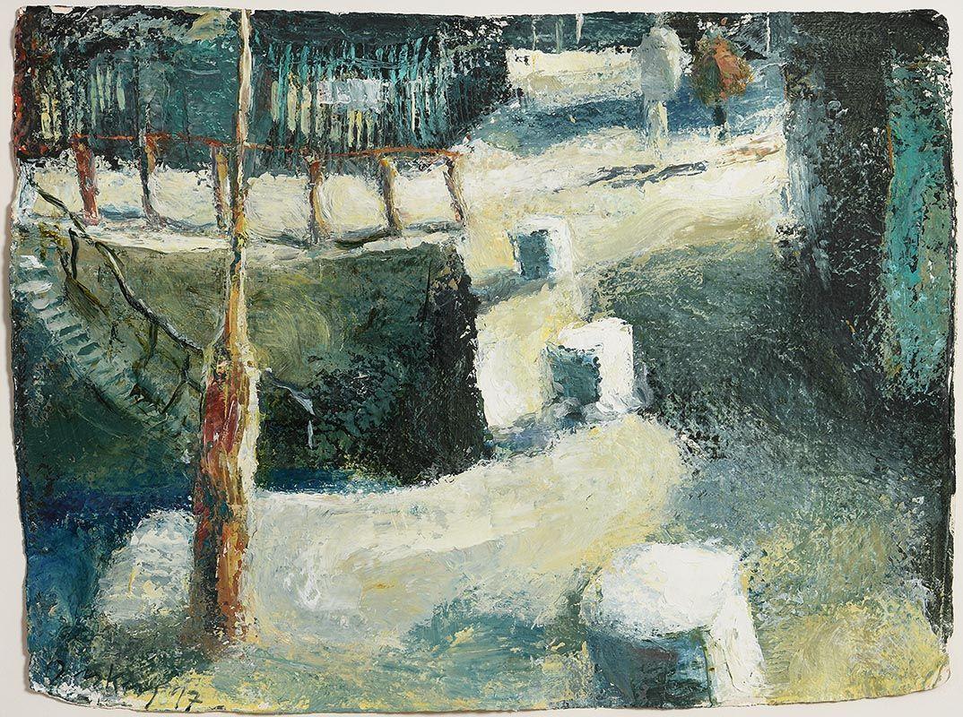 Donald Teskey, The East Pier Howth, Dublin (1997) at Morgan O'Driscoll Art Auctions