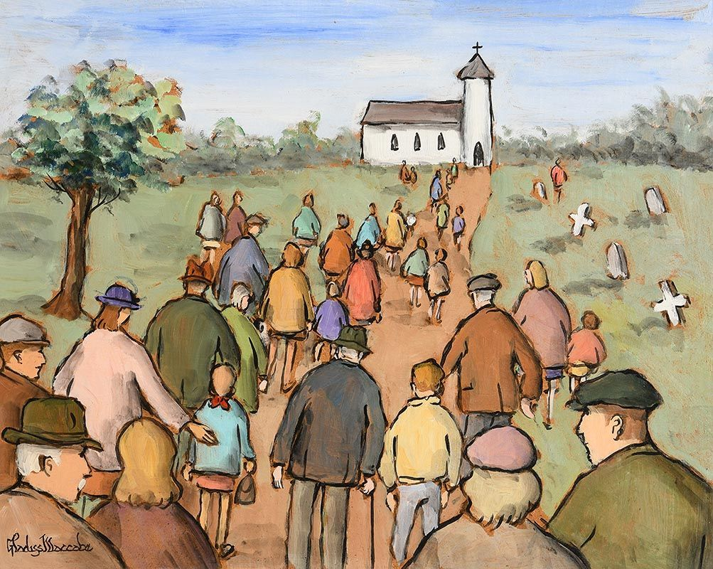 Gladys MacCabe, Going to Church at Morgan O'Driscoll Art Auctions
