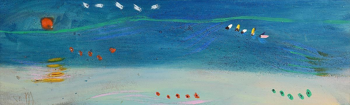 Tony O'Malley, Summer Sea (Sunset) (1987) at Morgan O'Driscoll Art Auctions