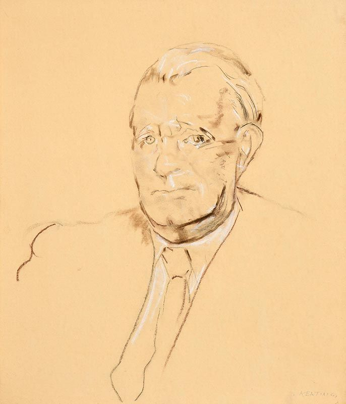Sean Keating, Sketch of Dan Breen (1958) at Morgan O'Driscoll Art Auctions
