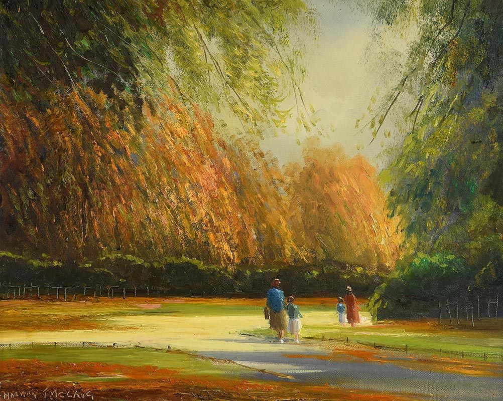 Norman J. McCaig, Autumn, St Stephen's Green, Dublin at Morgan O'Driscoll Art Auctions