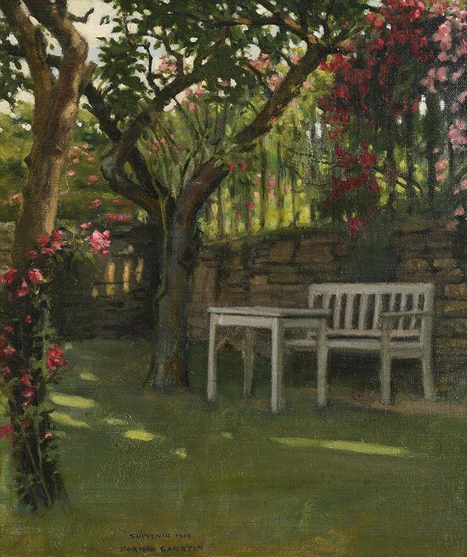Norman Garstin, The Garden of Calendars, Burford (1918) at Morgan O'Driscoll Art Auctions