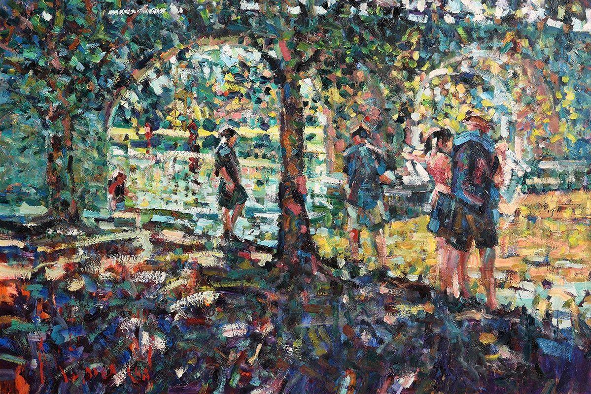 Arthur K. Maderson, Autumnal Evening, The Bridge at St. Jean du Gard at Morgan O'Driscoll Art Auctions