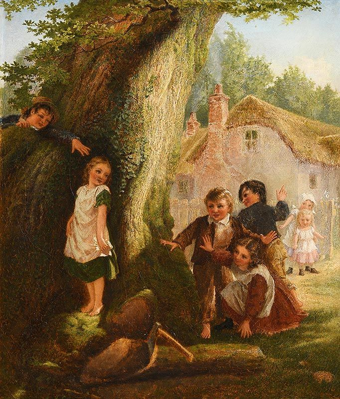 Samuel McCloy, Hide and Go Seek (1869) at Morgan O'Driscoll Art Auctions