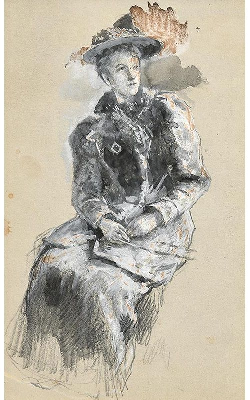 John Butler Yeats, Portrait of a Seated Lady at Morgan O'Driscoll Art Auctions