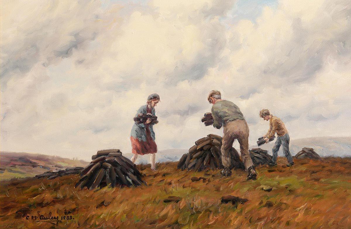 Charles J. McAuley, Everyone Helps at the Turf (1983) at Morgan O'Driscoll Art Auctions
