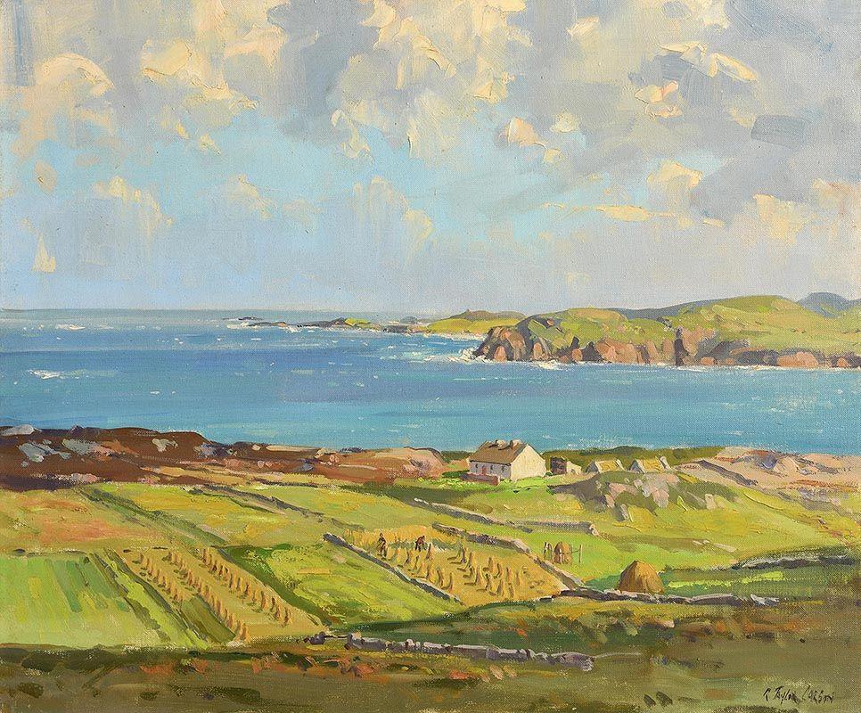 Robert Taylor Carson, Tra na Rossan Bay, Atlantic Bay, Co Donegal at Morgan O'Driscoll Art Auctions