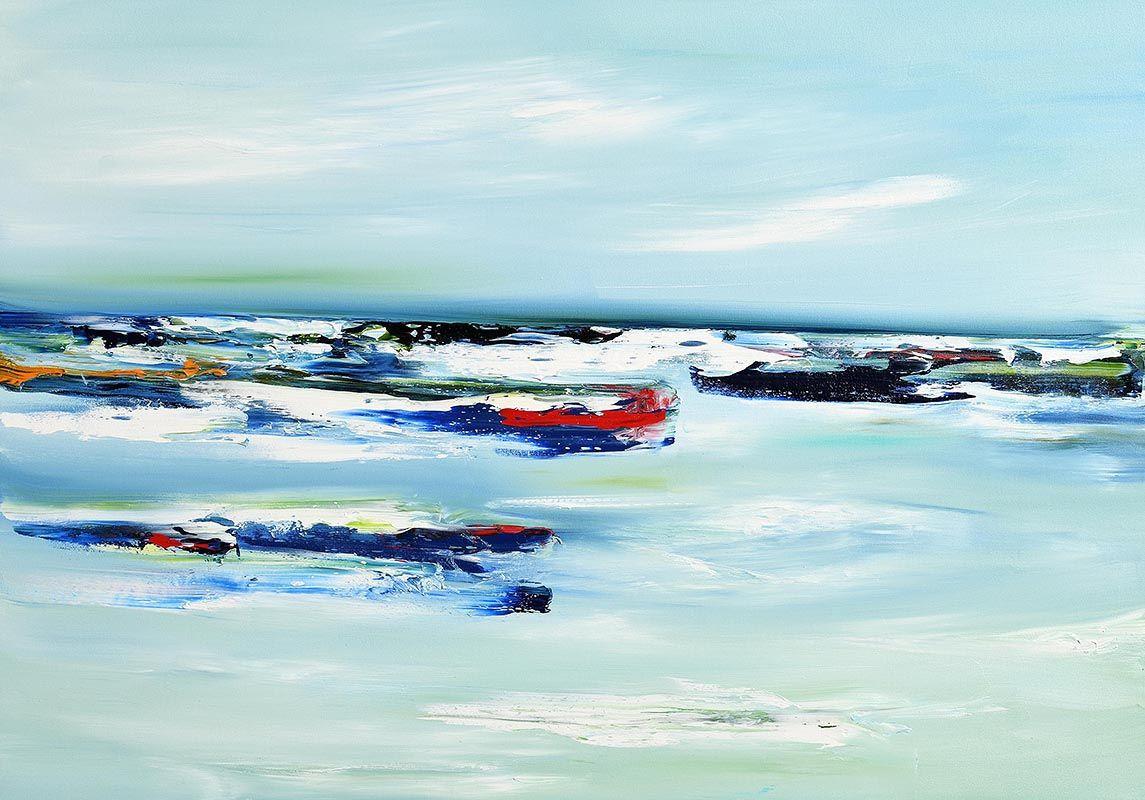 Majella O'Neill Collins, A Blue Storm, Sherkin (2019) at Morgan O'Driscoll Art Auctions