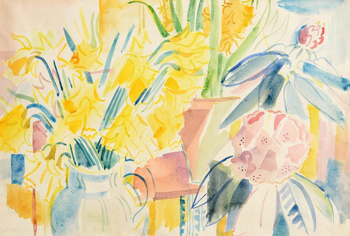 Fr. Jack P. Hanlon, Flower Market at Morgan O'Driscoll Art Auctions