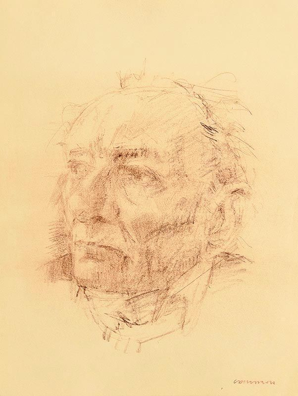 Colin Davidson, Portrait of Brian Friel at Morgan O'Driscoll Art Auctions