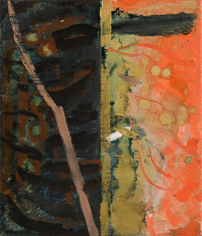 Maurice Cockrill, Study for Place of Fire I (1994) at Morgan O'Driscoll Art Auctions