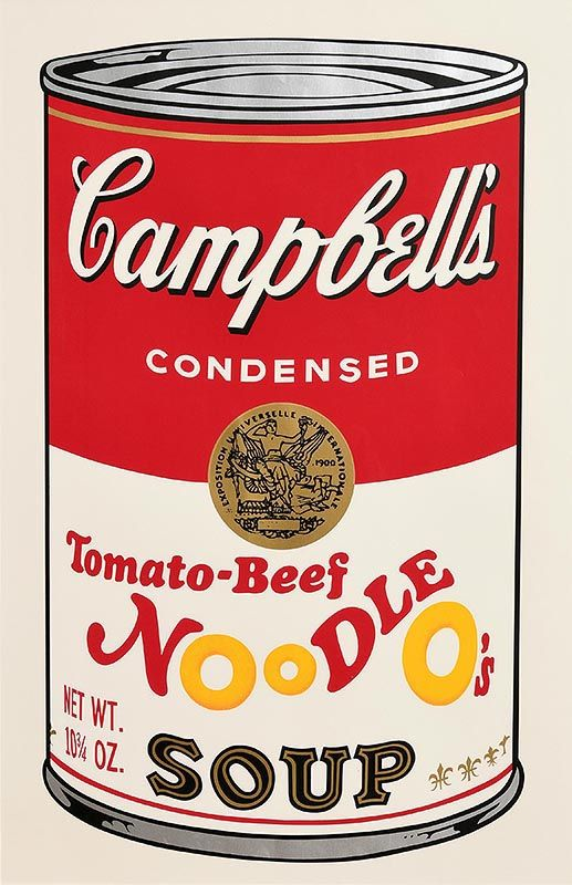 Andy Warhol, Tomato-Beef Noodle O´s, from Campbell's Soup II, 1969 (F. & S. II.61) at Morgan O'Driscoll Art Auctions