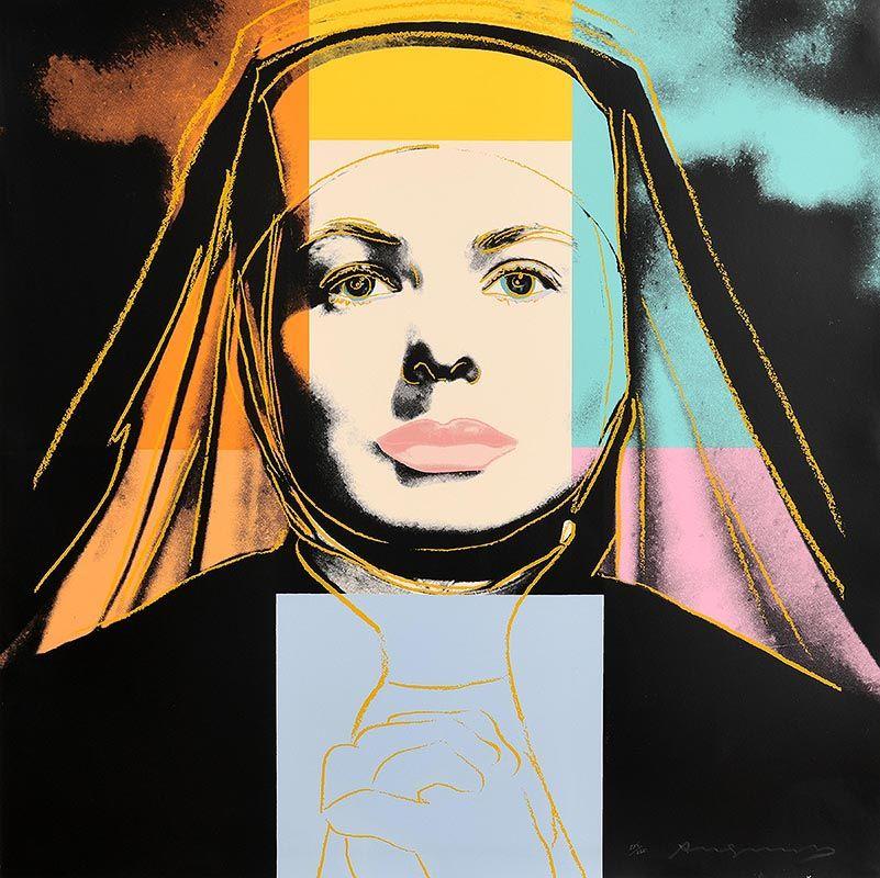 Andy Warhol, The Nun, from Ingrid Bergman, 1983 (F. & S. II.314) at Morgan O'Driscoll Art Auctions