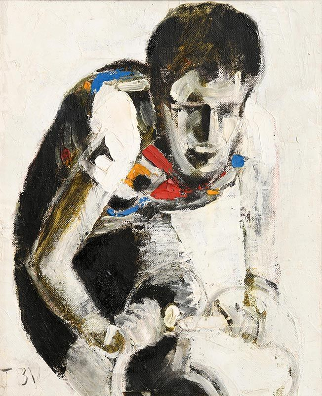 John Brian Vallely, Sean Kelly Sprinting for the Line (1986) at Morgan O'Driscoll Art Auctions