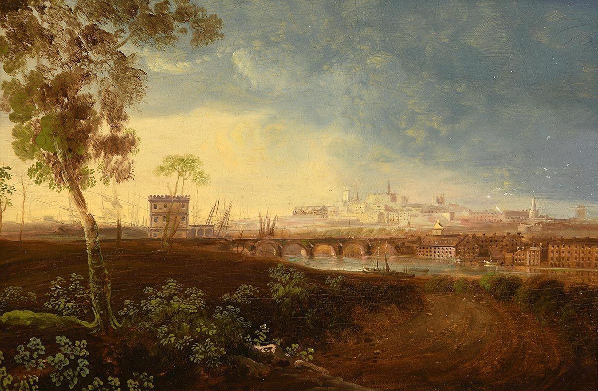 William Sadler, View of Drogheda at Morgan O'Driscoll Art Auctions