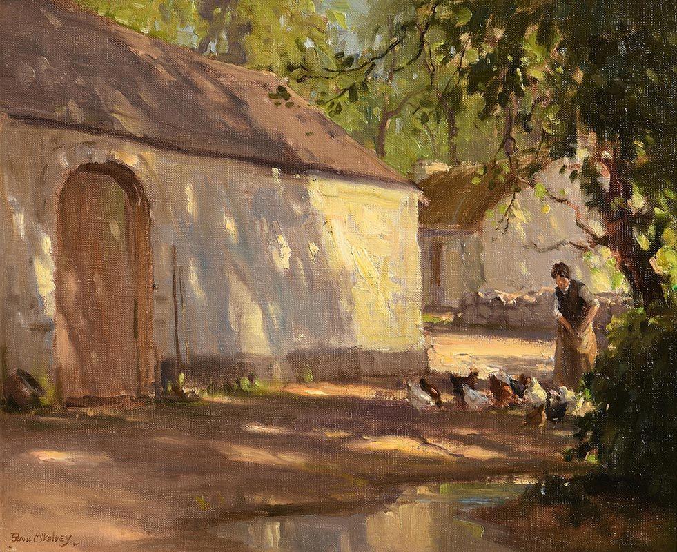 Frank McKelvey, Feeding the Hens at Morgan O'Driscoll Art Auctions