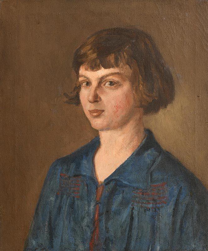 Estella Frances Solomons, Portrait of Moppie Morrow at Morgan O'Driscoll Art Auctions