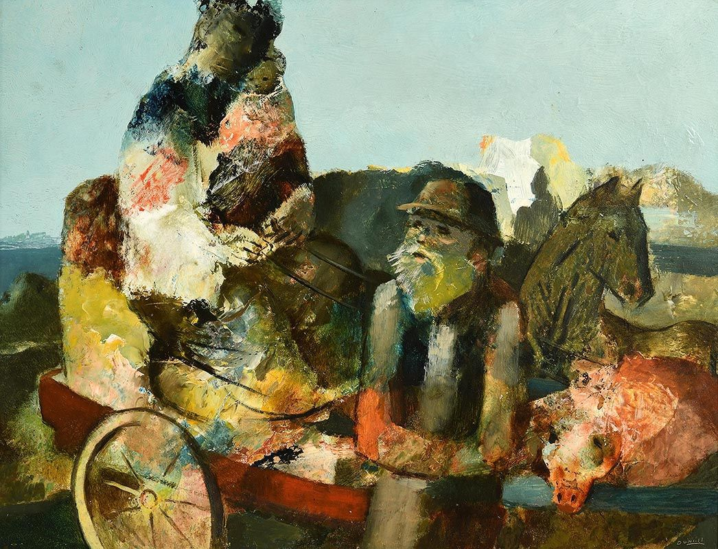 Daniel O'Neill, Country Cart at Morgan O'Driscoll Art Auctions