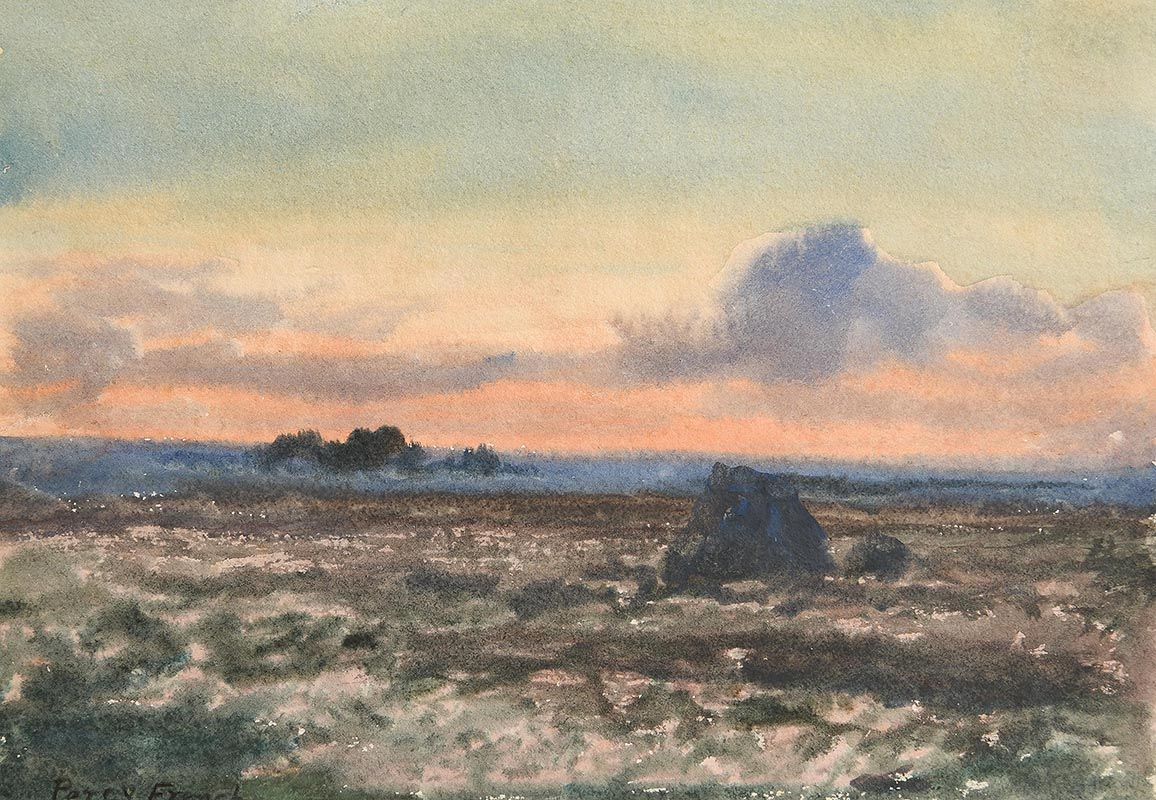 Percy French, Sunset Connemara at Morgan O'Driscoll Art Auctions