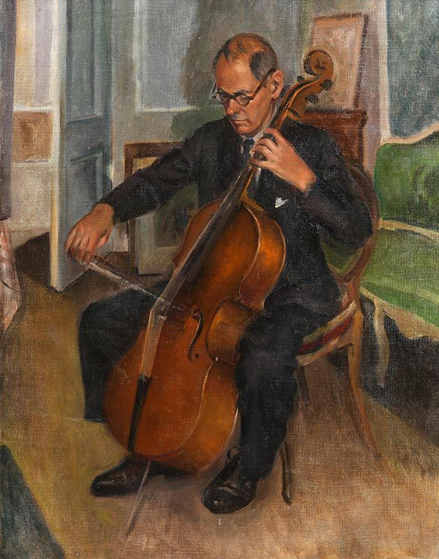 William John Leech, Home Practice: Michael O'Neill of the Dublin Chamber Orchestra c.1910 at Morgan O'Driscoll Art Auctions