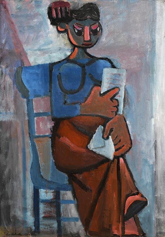 John Melville, Reading a Letter (1959) at Morgan O'Driscoll Art Auctions