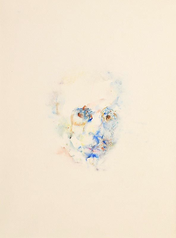 Louis Le Brocquy, Study Towards an Image of W.B.Yeats (1982) (W658) at Morgan O'Driscoll Art Auctions