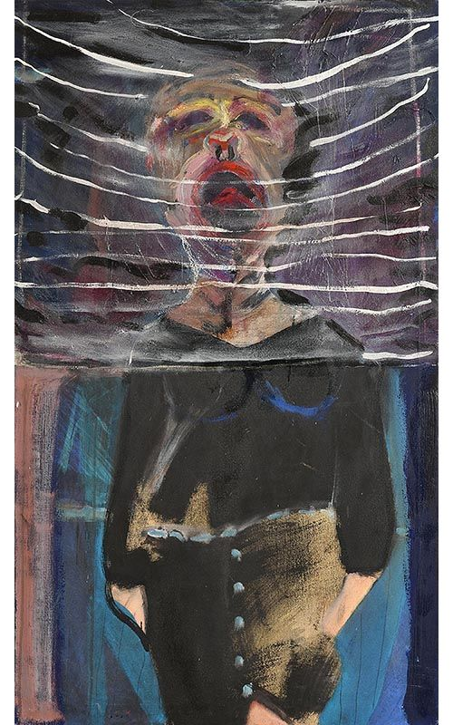 Brian Maguire, The Scream Don't Hear Me at Morgan O'Driscoll Art Auctions