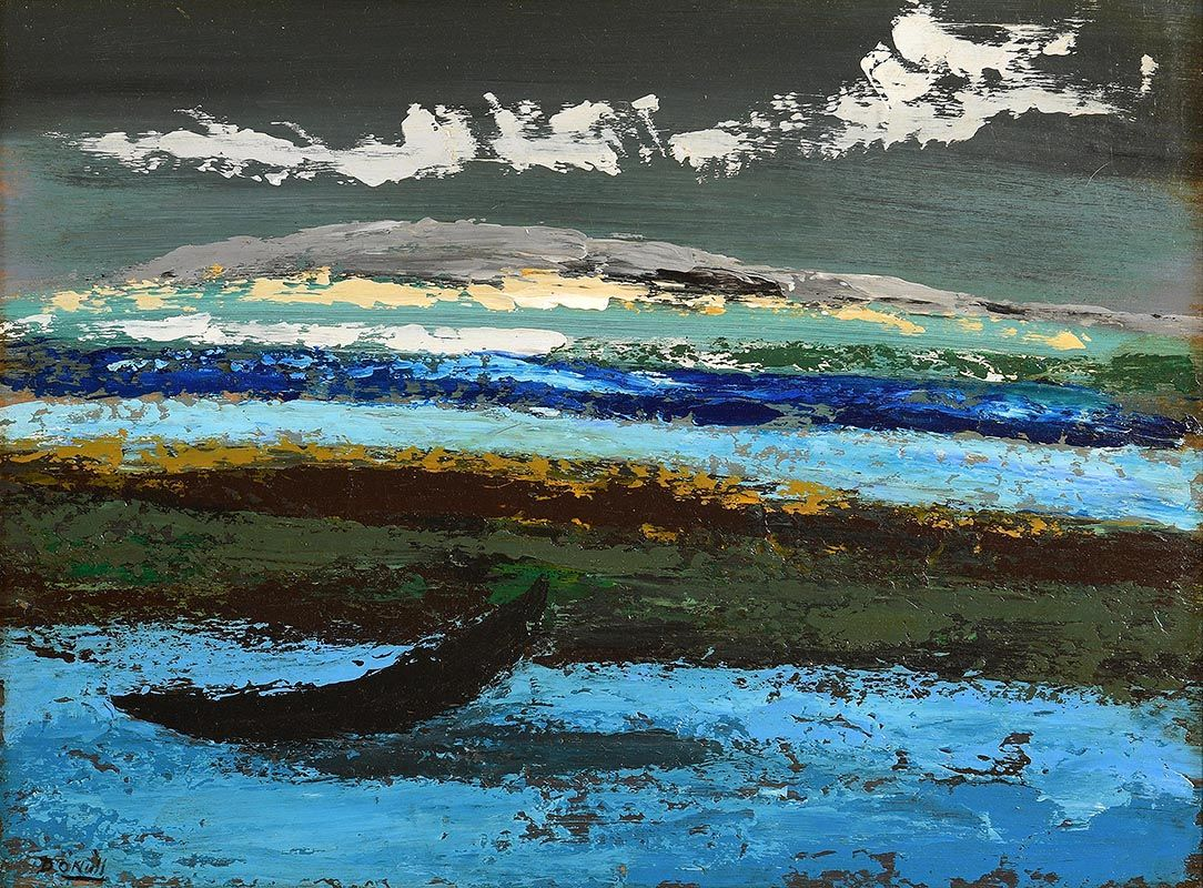 Daniel O'Neill, The Lonesome Curragh, Donegal at Morgan O'Driscoll Art Auctions
