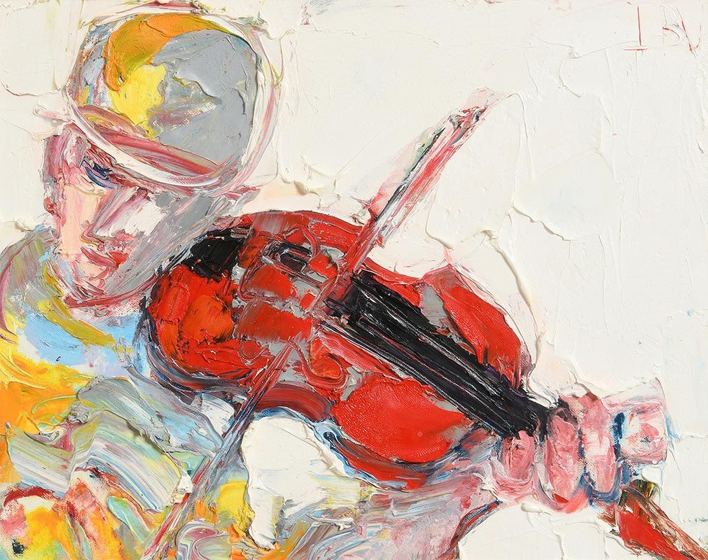 John Brian Vallely, The Fiddle Player at Morgan O'Driscoll Art Auctions