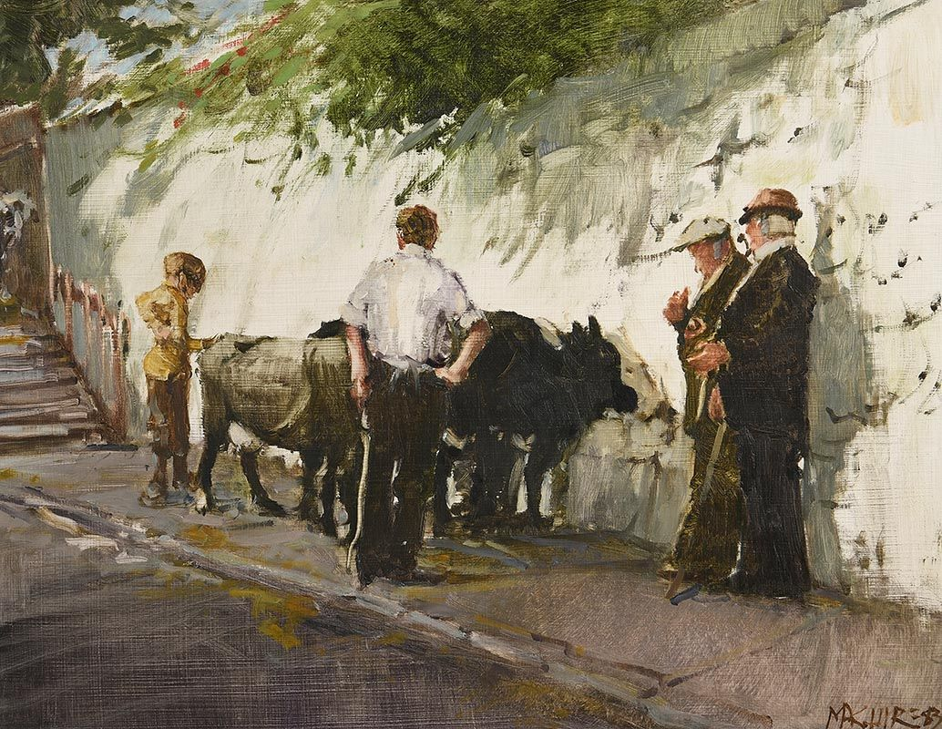 Cecil Maguire, Fair Day, Clifden (1983) at Morgan O'Driscoll Art Auctions