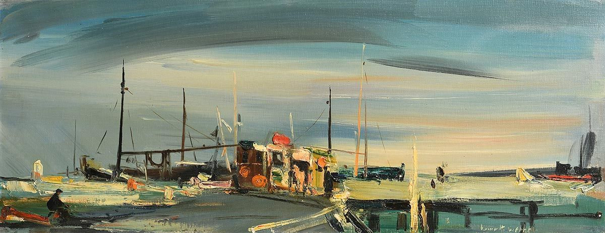 Kenneth Webb, Fishing Port at Morgan O'Driscoll Art Auctions