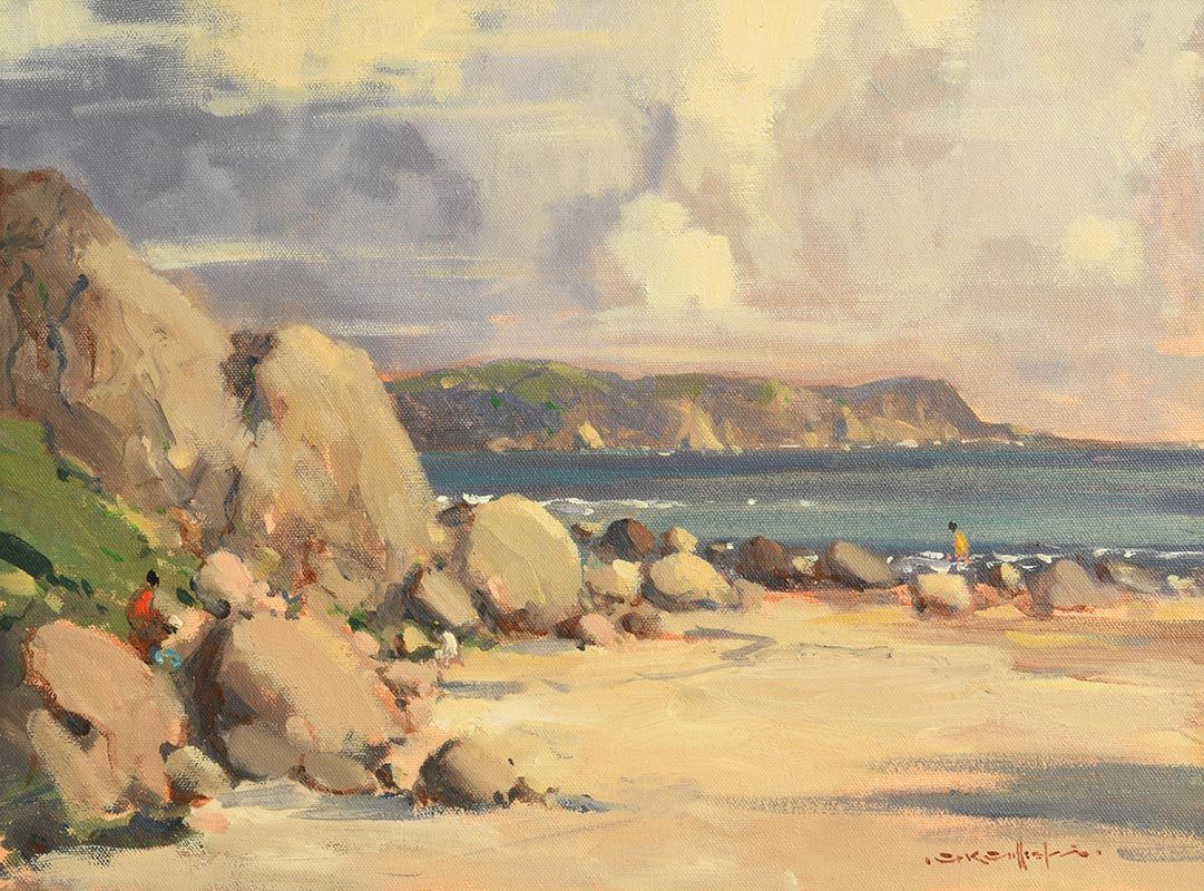George K. Gillespie, Garron Head, Antrim Coast at Morgan O'Driscoll Art Auctions