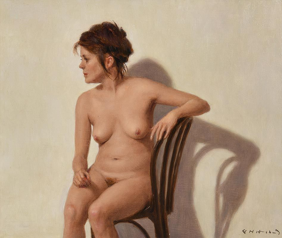 Harry Holland, Seated Female Nude at Morgan O'Driscoll Art Auctions