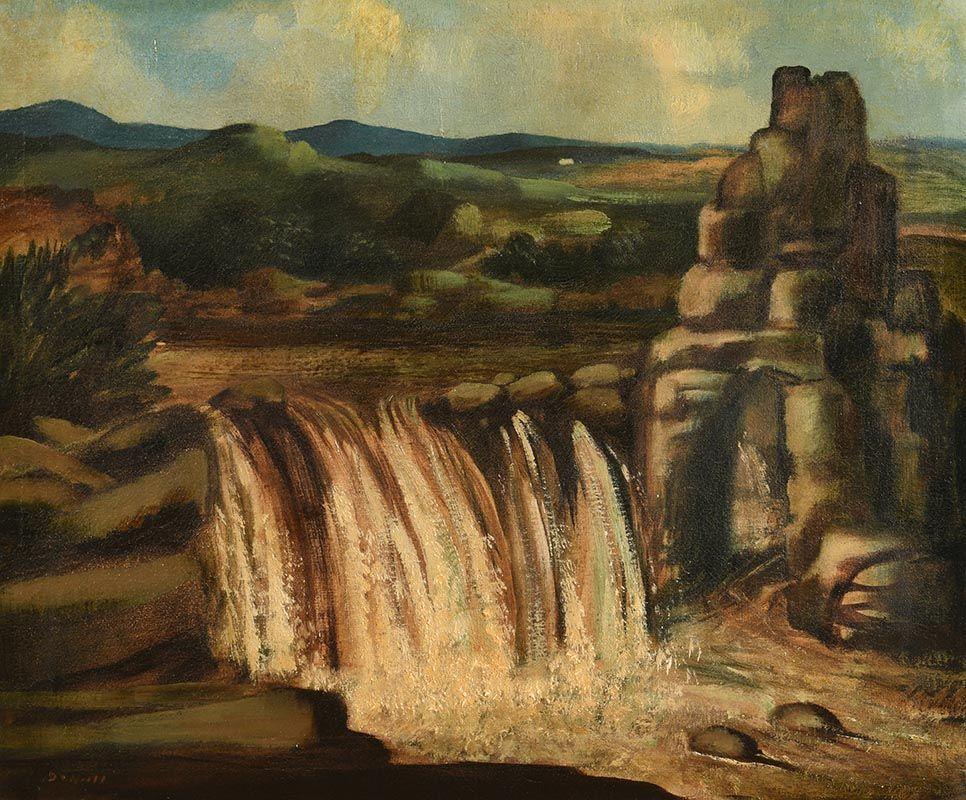 Daniel O'Neill, The Salmon Leap, Bunbeg, Co. Donegal at Morgan O'Driscoll Art Auctions