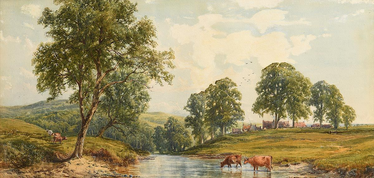 John Faulkner, Cattle by the Stream at Morgan O'Driscoll Art Auctions