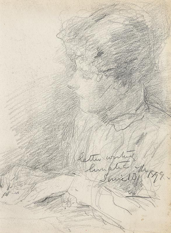 John Butler Yeats, Letter Writing Lunatic (1899) at Morgan O'Driscoll Art Auctions