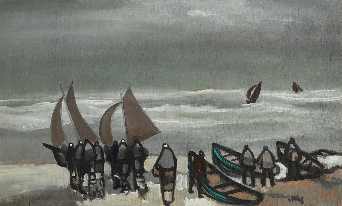 Markey Robinson, Coming Ashore at Morgan O'Driscoll Art Auctions