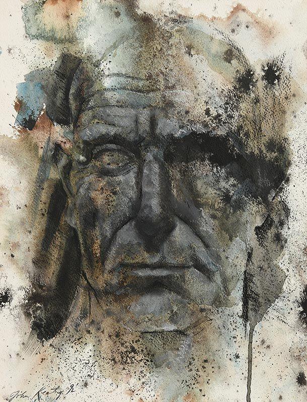 John Keating, Image of Head (1992) at Morgan O'Driscoll Art Auctions