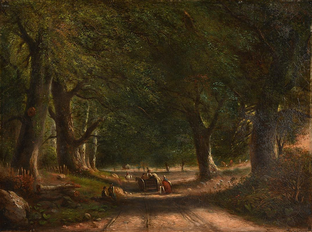 William Howis, Through the Woods (1873) at Morgan O'Driscoll Art Auctions