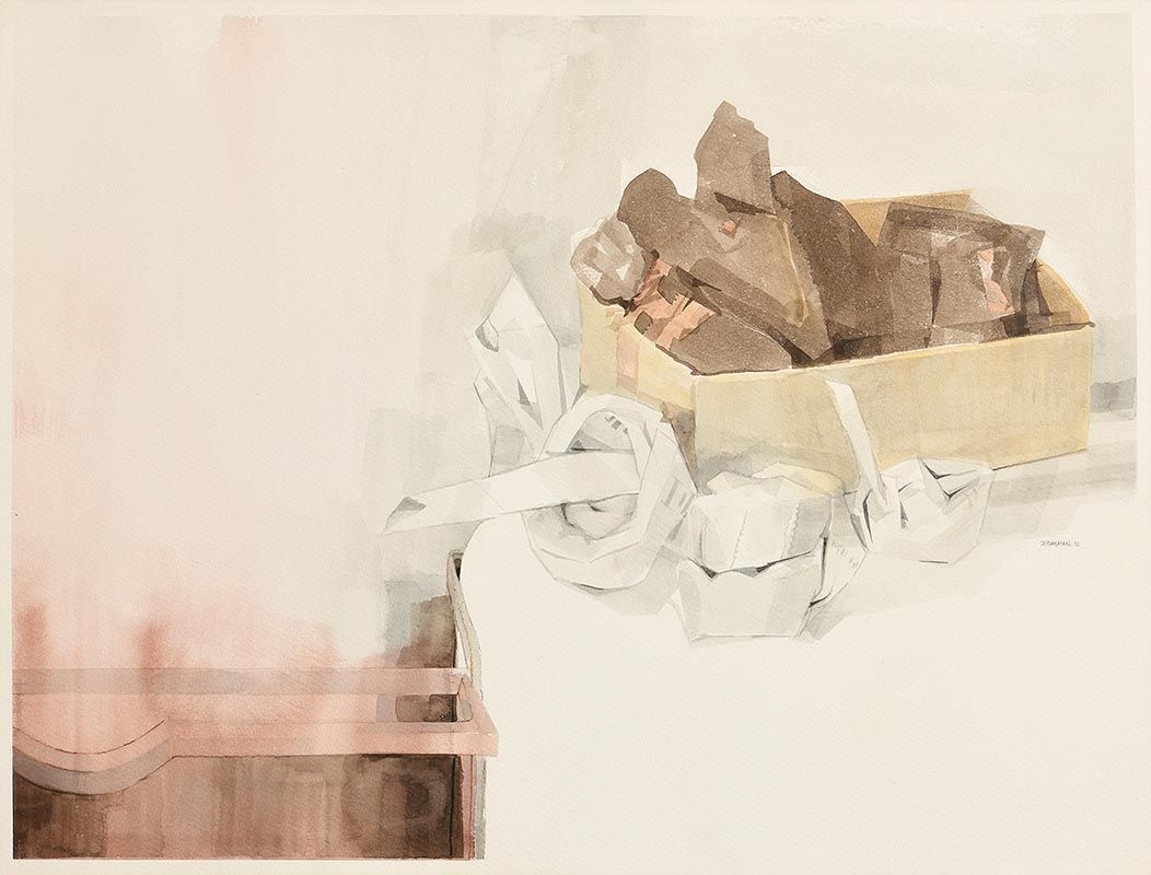 Terence P. Flanagan, Preparing the Hearth (1993) at Morgan O'Driscoll Art Auctions