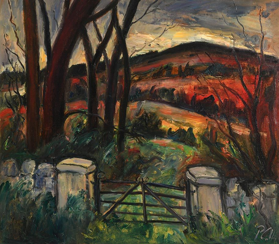 Peter Collis, Farm Gate, Wicklow at Morgan O'Driscoll Art Auctions