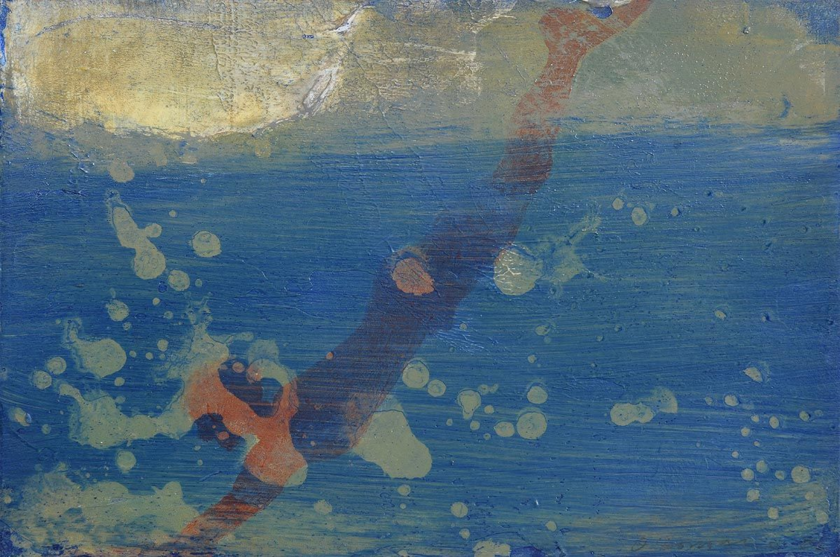 Hughie O'Donoghue, Course of a Diver (2002) at Morgan O'Driscoll Art Auctions