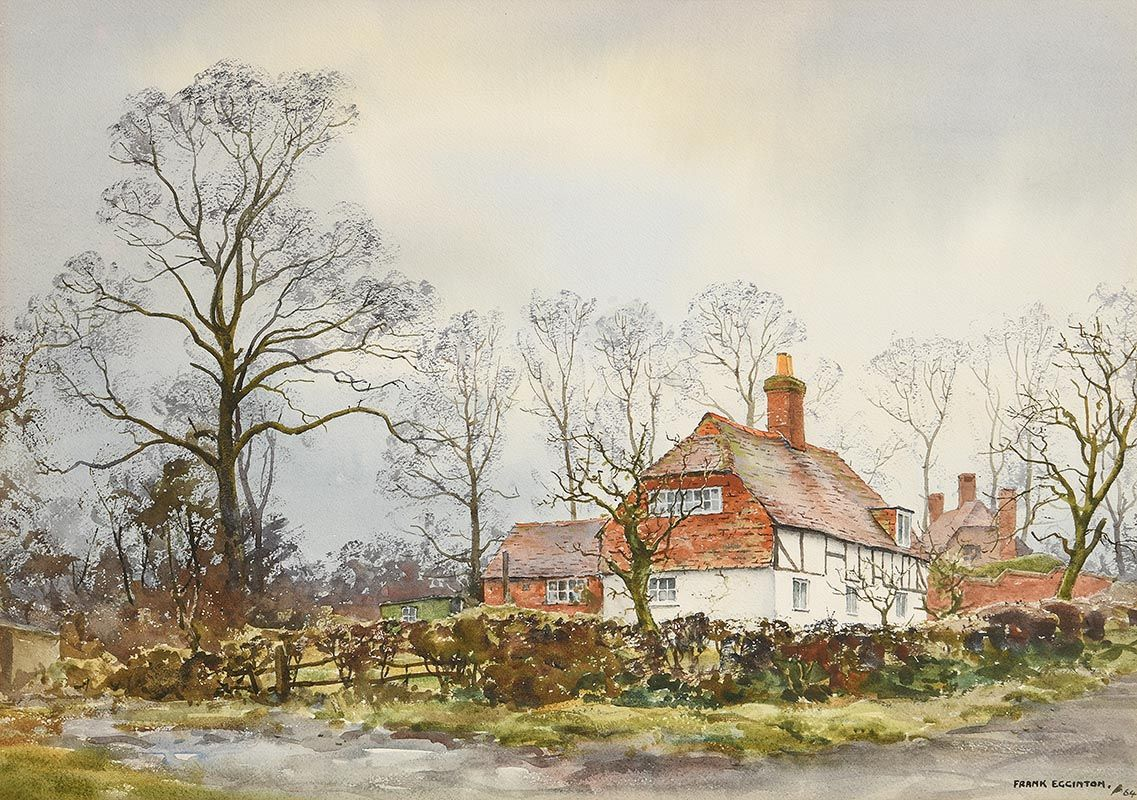 Frank Egginton, A Country Cottage (1964) at Morgan O'Driscoll Art Auctions
