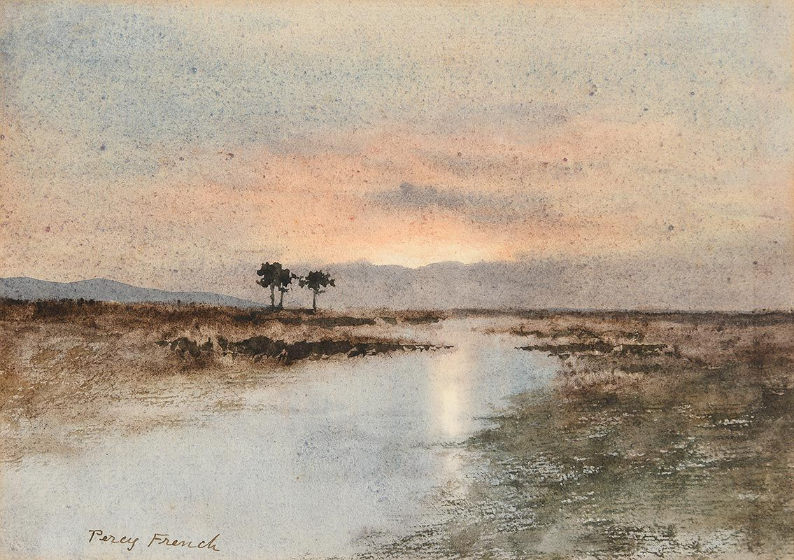 Percy French, Lake Scene, Evening at Morgan O'Driscoll Art Auctions