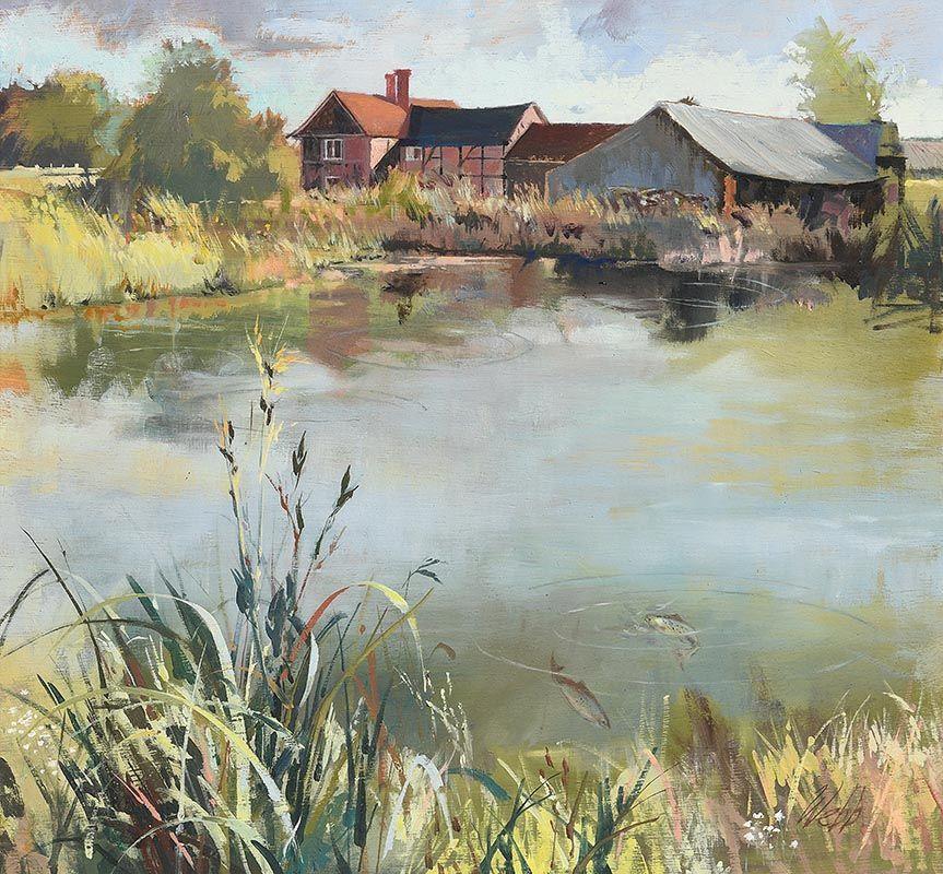 Kenneth Webb, South Hurst Farm (1986) at Morgan O'Driscoll Art Auctions