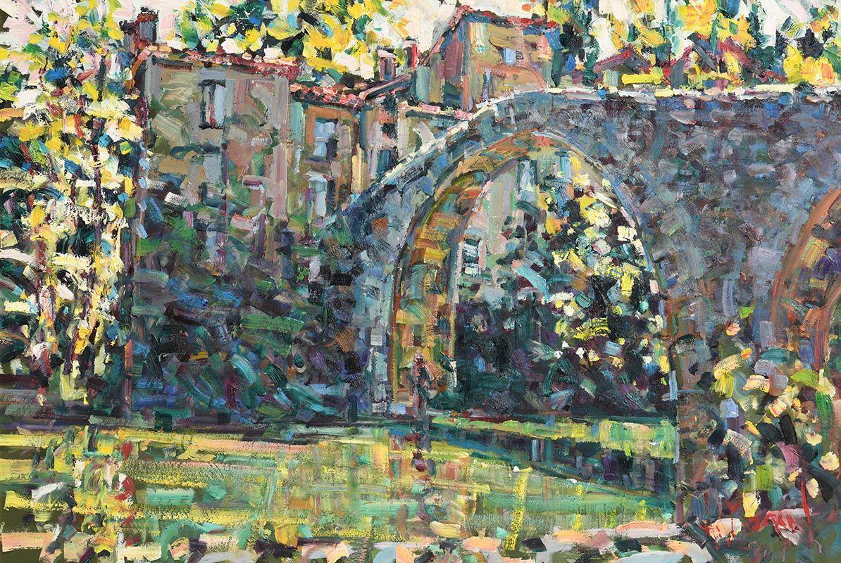Arthur K. Maderson, The Old Bridge, Le Vigan, Gard, France at Morgan O'Driscoll Art Auctions