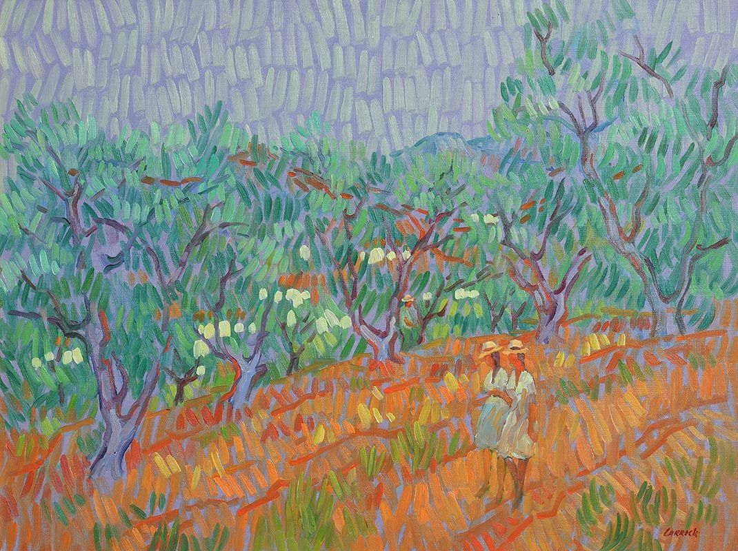 Desmond Carrick, Strolling through the Orchard at Morgan O'Driscoll Art Auctions