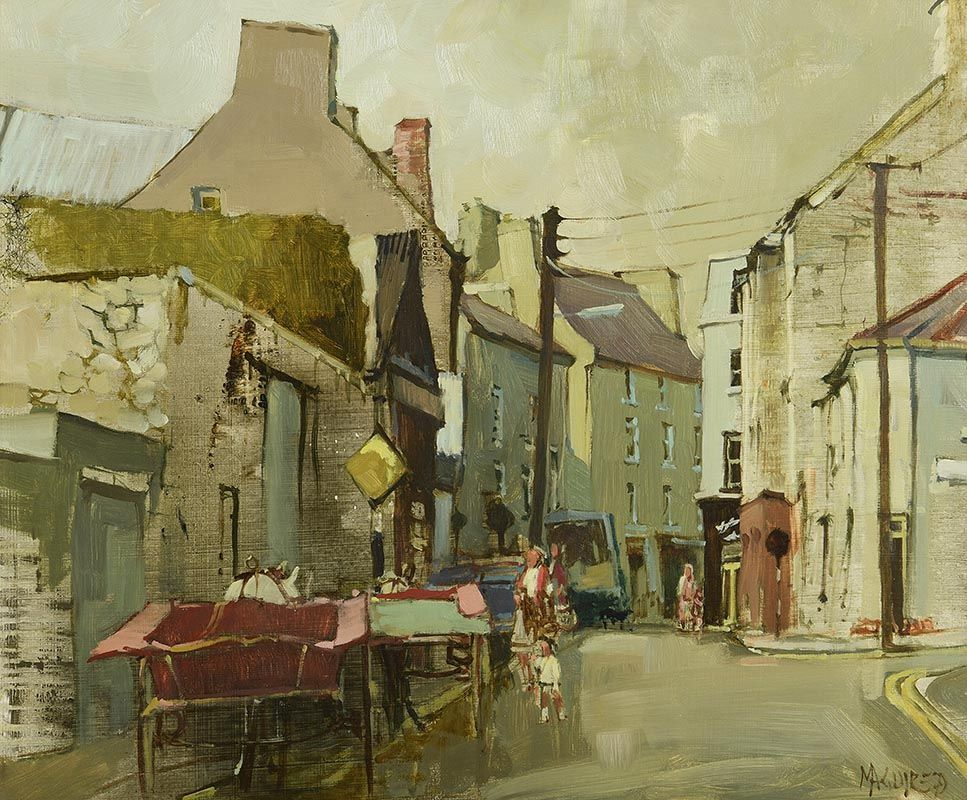 Cecil Maguire, Cross Street, Galway (1979) at Morgan O'Driscoll Art Auctions